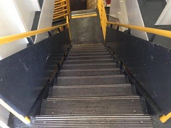 An example of the full cover stair tread and nosing.