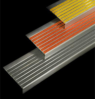series 300 image of yellow, gray and orange coloring stair nosings.