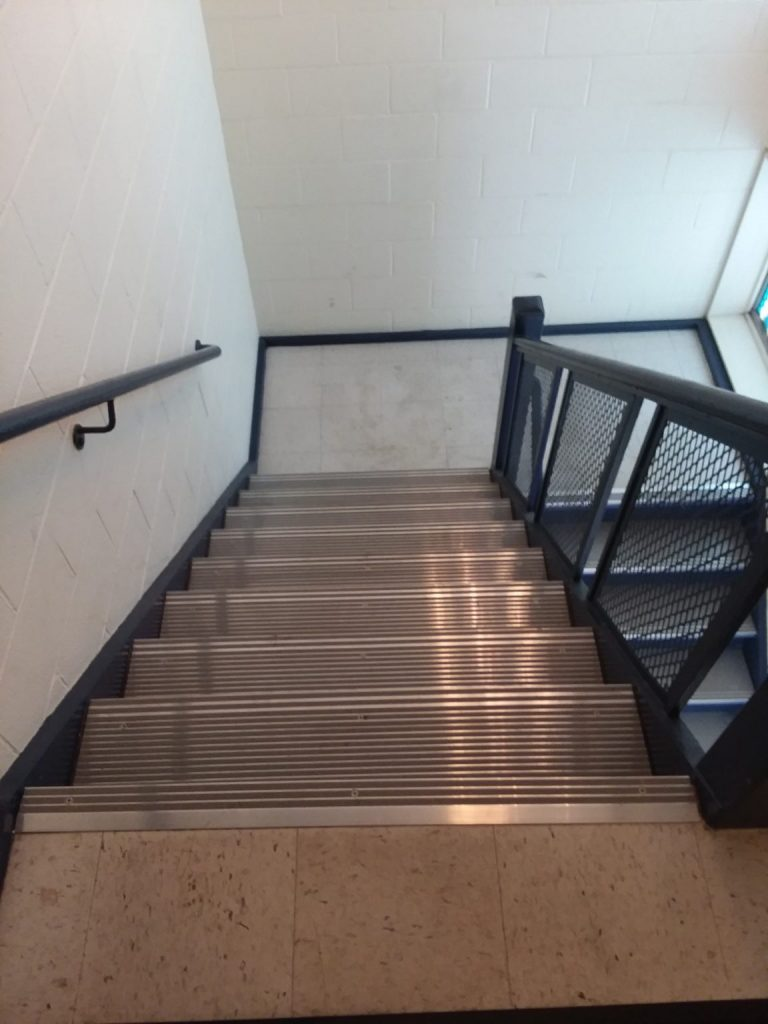 Installed 511A at a school stairway.