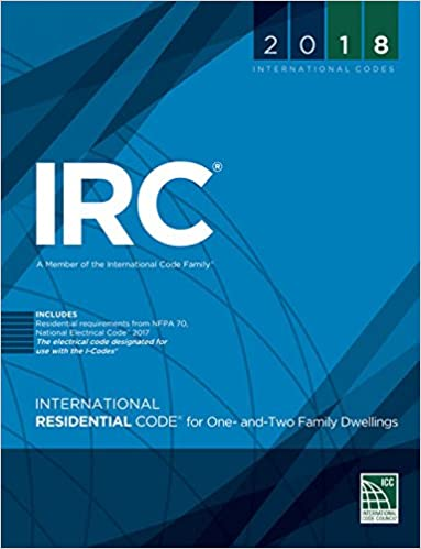 IRC 2018, international codes. Front of book.